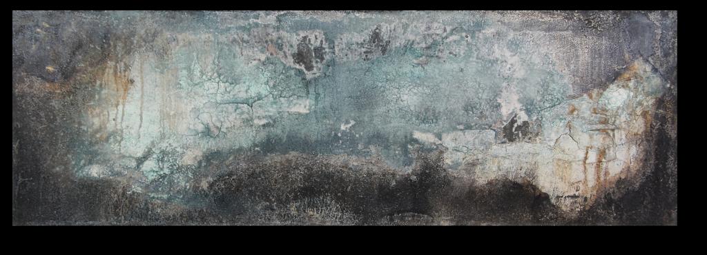 w1.2 - INTONACO auf Metall - Format 50cm x 150cm