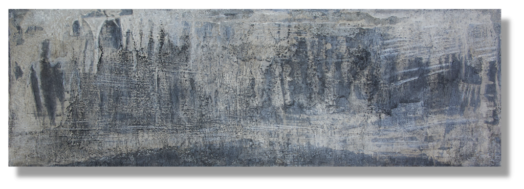 w1.3 - INTONACO auf Metall - Format 50cm x 150cm