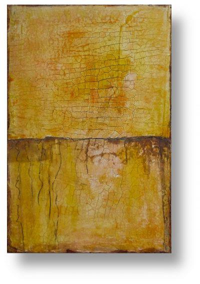 Götterfunken - INTONACO auf Malpappe schwebend gehängt - Format 40cm x 60cm