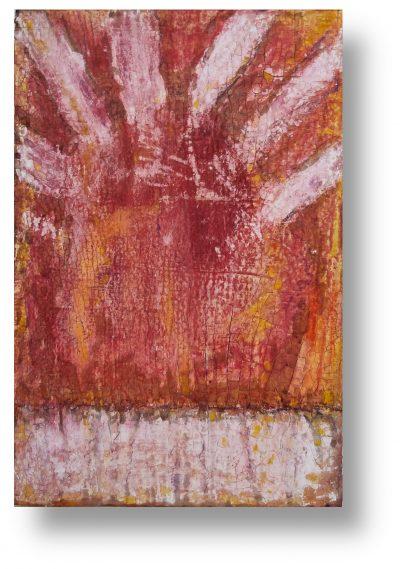 feuertrunken - INTONACO auf Malpappe schwebend gehängt - Format 40cm x 60cm
